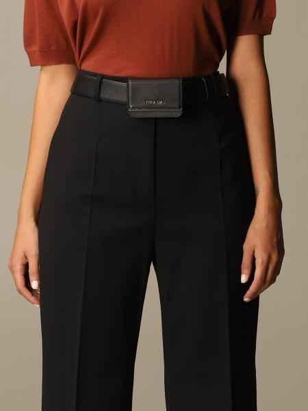Prada belt in saffiano leather with micro bag
