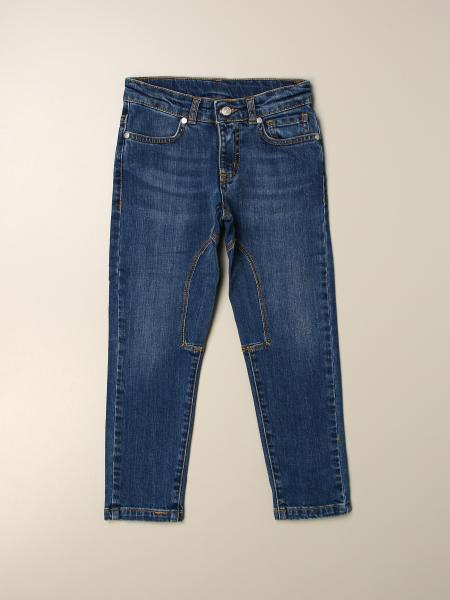 Sevilla jeans in used denim with patches