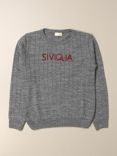 Sevilla crewneck sweater with logo