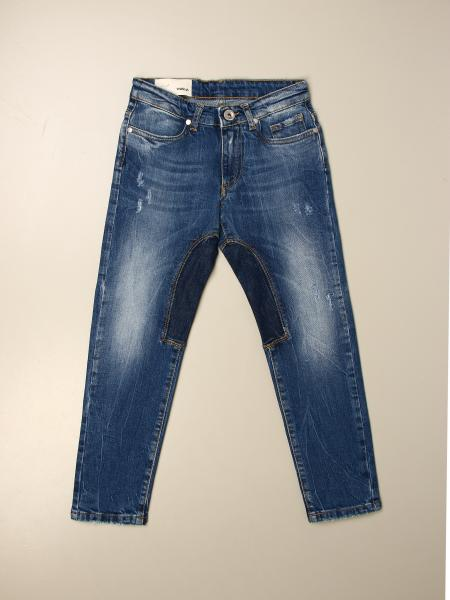 Jeans Siviglia in denim used con toppe