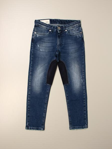 Jeans Siviglia in denim used con toppe in Alcantara