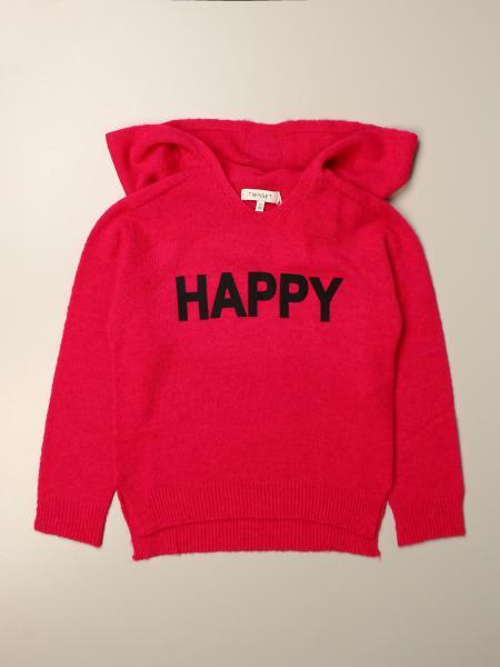 Twinset kids: Twin-set cotton sweatshirt with happy writing