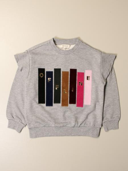 Twinset kids: Twin-set crewneck sweatshirt with colored applications