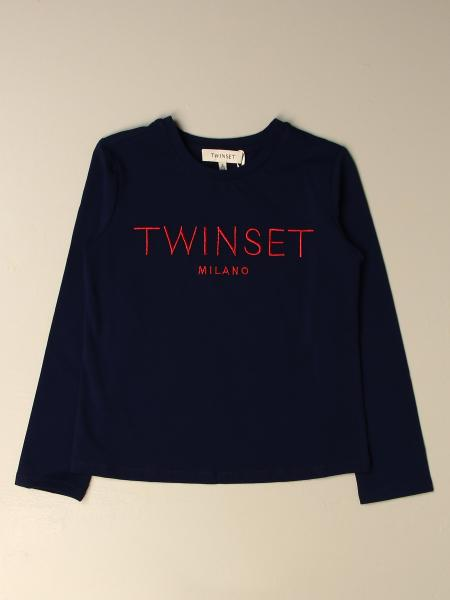T-shirt Twin-set in cotone con logo ricamato