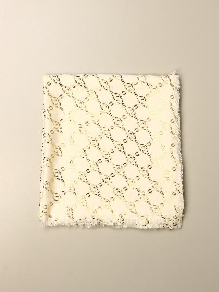 Twin-set double scarf with all over lurex chains