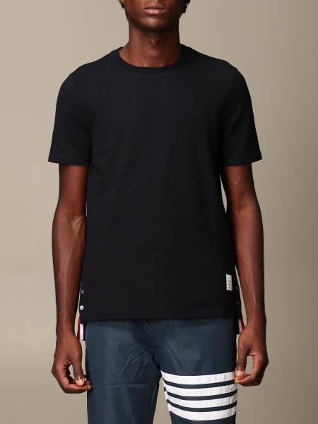 Thom Browne cotton t-shirt with striped band