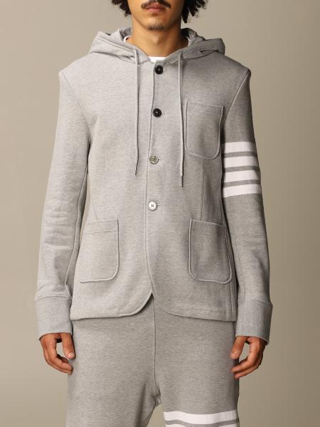 Thom Browne: Thom Browne sweatshirt jacket with stripes