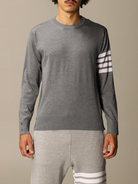 Thom Browne pullover in merino wool with bands