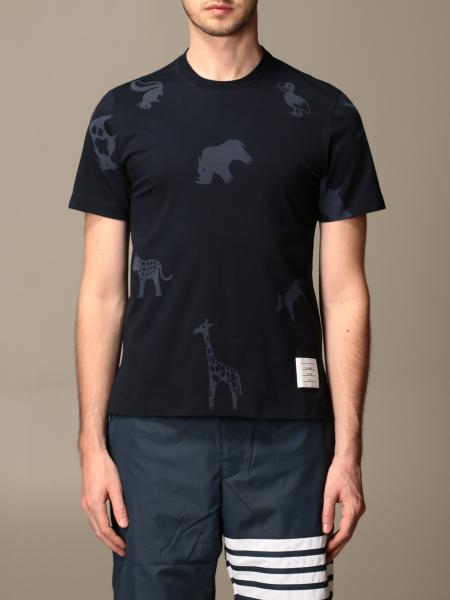 Thom Browne cotton T-shirt with animal print