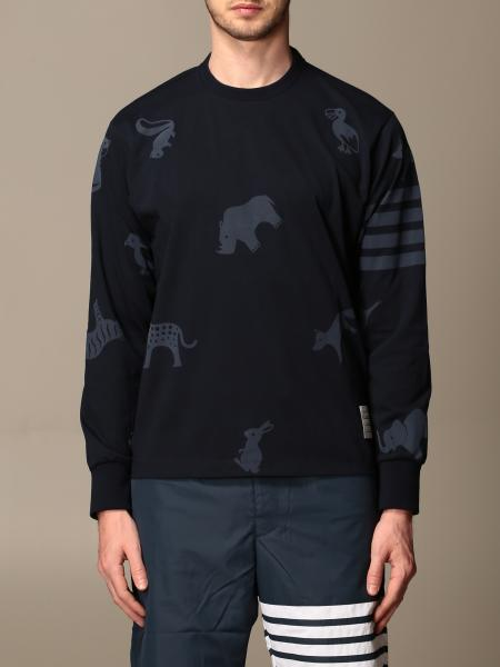 Thom Browne: Thom Browne cotton sweater with animal print