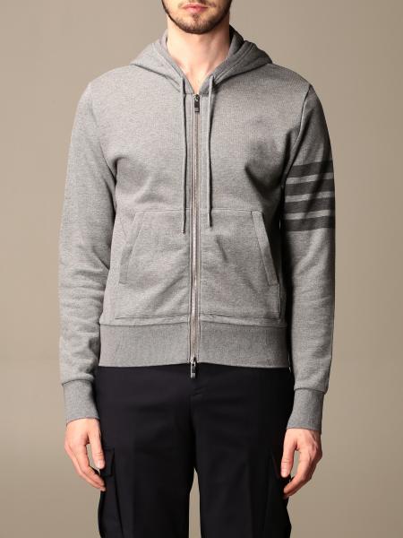 Thom Browne: Thom Browne sweatshirt with logo and zip