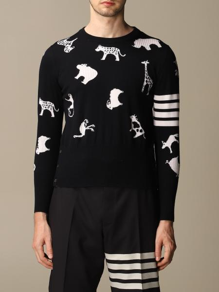 Thom Browne pullover in wool with animals