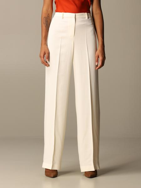 Theory: Theory trousers in wide crêpe