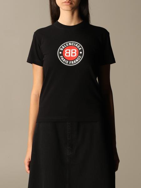 Balenciaga: Balenciaga vintage club t-shirt in cotton