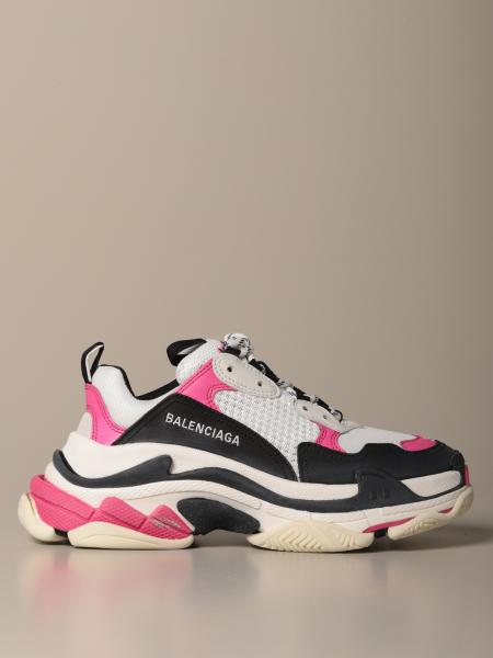 Triple s Balenciaga sneakers in washed mesh and leather