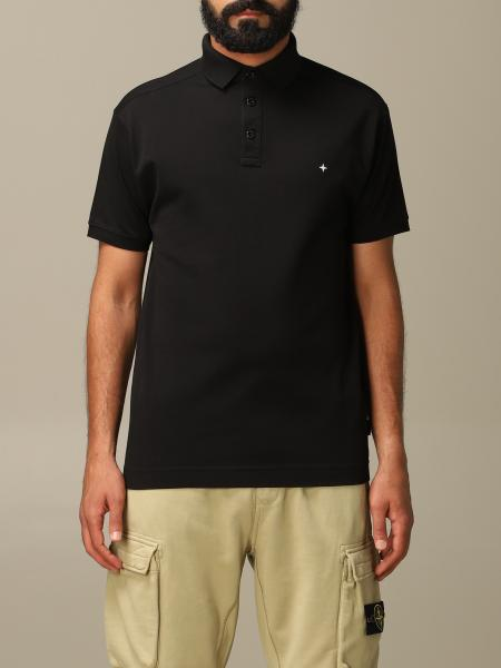 Stone Island short-sleeved polo shirt with logo