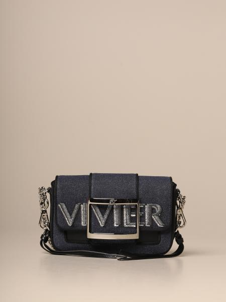 Call Me Très Roger Vivier bag in denim with logo