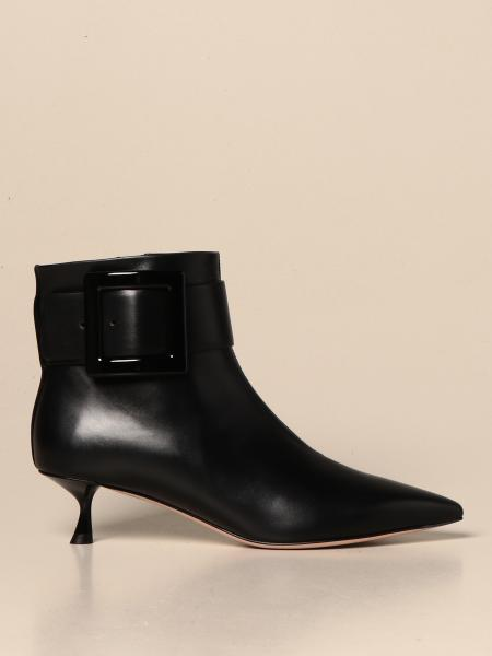 Roger Vivier: Roger Vivier Pointy ankle boots in leather