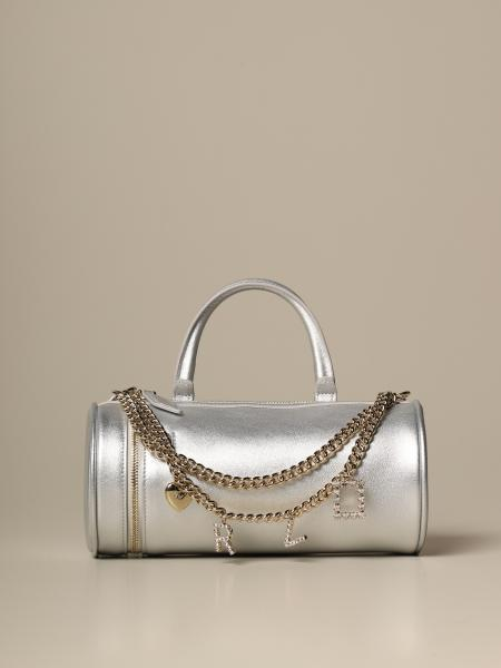 Roger Vivier mini charm Bowling bag in laminated leather