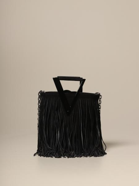 Roger Vivier mini RV bag in suede with fringes