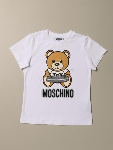 Moschino Kid T-shirt with Teddy game logo