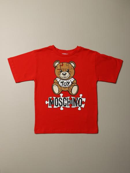 Moschino Kid T-shirt with Teddy Puzzle logo