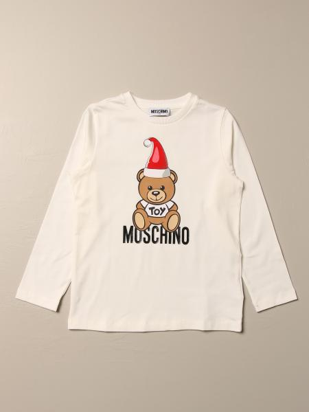 Moschino Kid T-shirt with Teddy hat logo