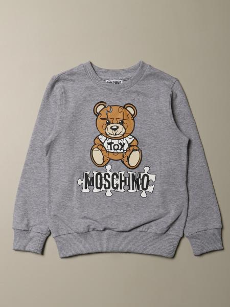 Moschino Kid sweatshirt with Teddy Puzzle logo