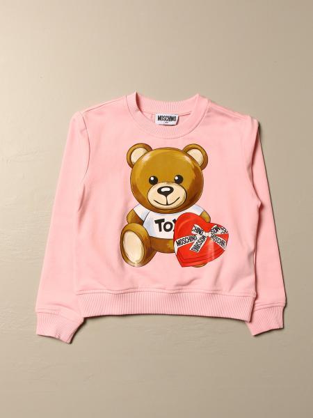 Moschino Kid sweatshirt with big teddy heart