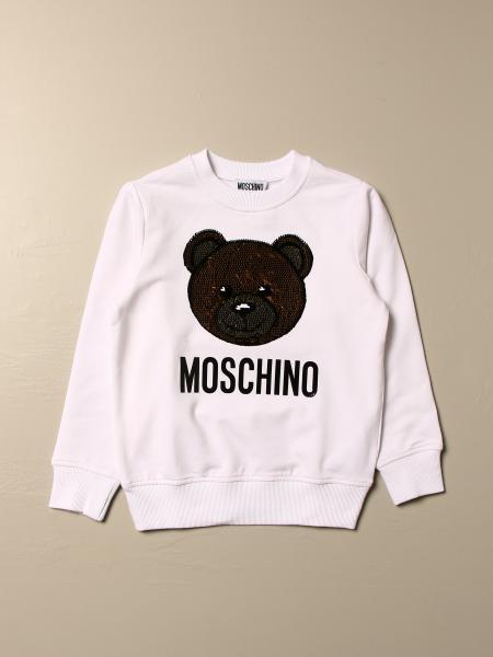 Moschino Kid sweatshirt with big sequin teddy