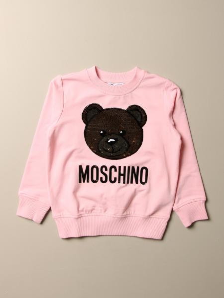 Felpa Moschino Kid con big teddy di paillettes