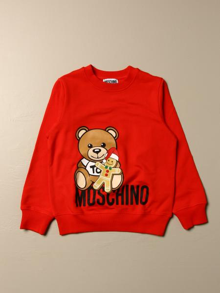Felpa Moschino Kid con big teddy biscotto