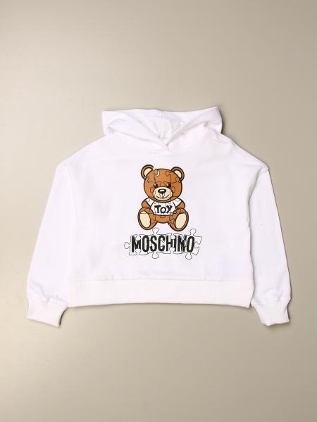 Moschino Kid sweatshirt with teddy puzzle logo