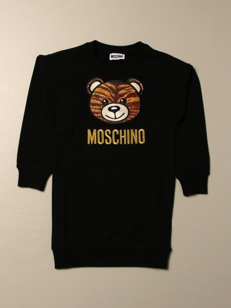 Abito Moschino Kid con logo teddy tigre