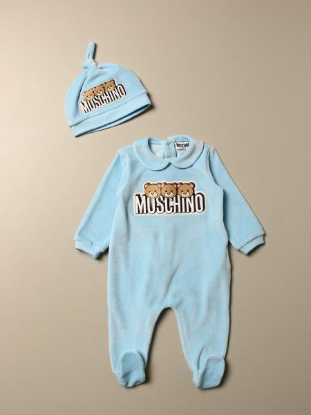 Footed romper + hat Moschino Baby with Teddy logo