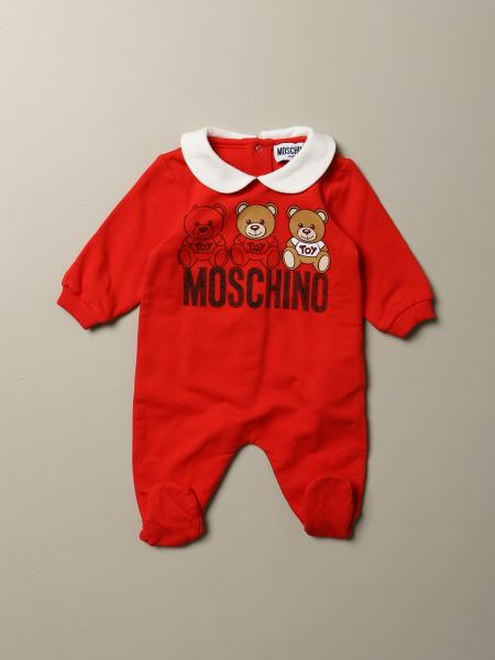 Moschino Baby romper with feet and Teddy logo
