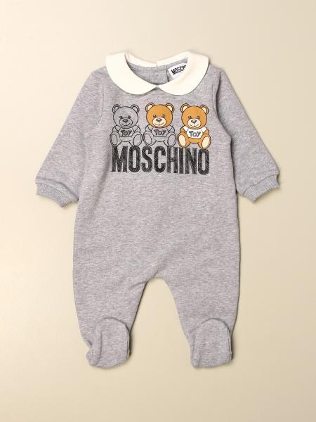 Combinaison à pieds Moschino Baby avec logo Teddy