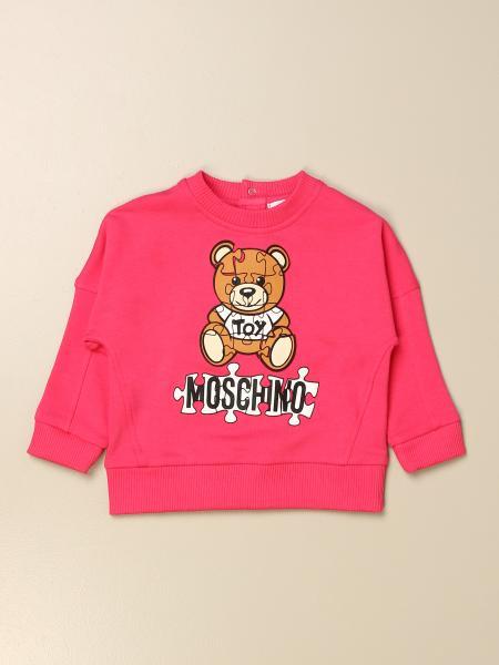 Moschino Baby sweatshirt with Teddy puzzle logo