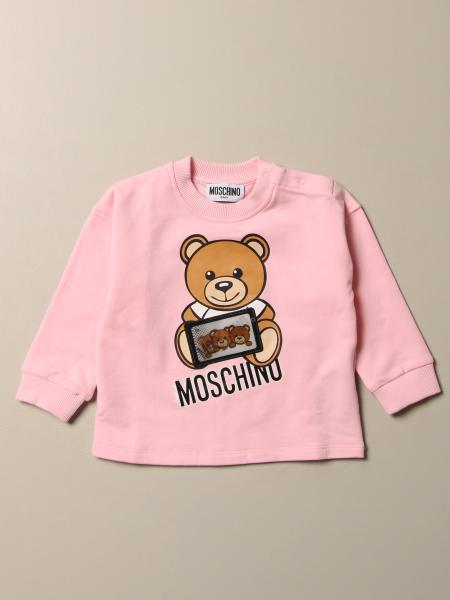 Maglia Moschino Baby con logo Teddy game