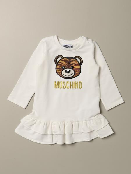 Moschino Baby dress with tiger Teddy patch