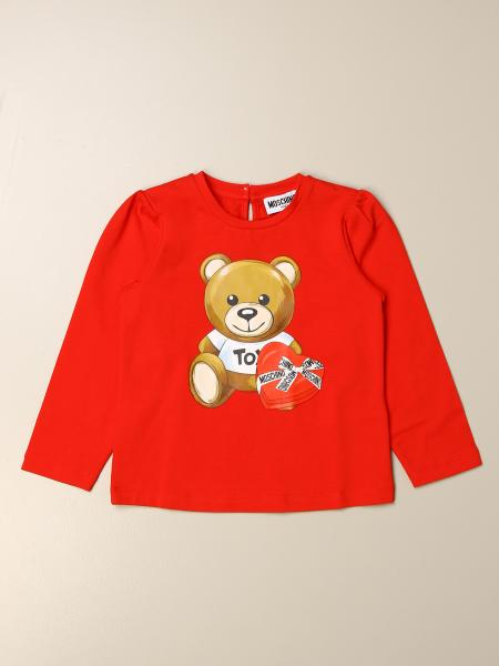 T-shirt Moschino Baby con logo Teddy cuore