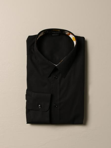 Versace cotton shirt with baroque detail