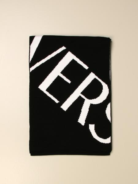 Versace wool scarf with big logo