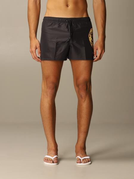 Versace boxer swimsuit with baroque Medusa print