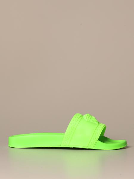 Palazzo Versace sandal in fluo rubber with Medusa head