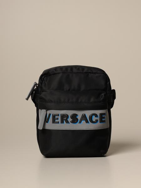 Versace nylon bag with reflective logo