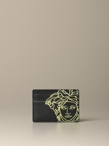 Porta carte di credito Versace con Medusa a contrasto