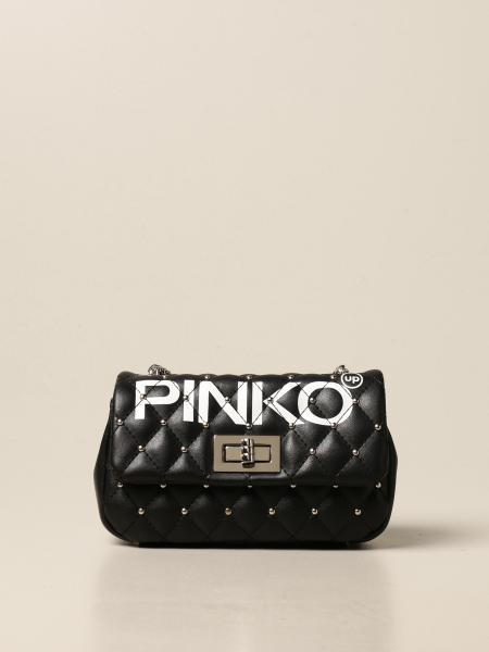 Pinko bag in synthetic leather with logo