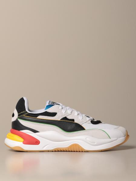 Rs-2k wh The Unity Collection Puma mesh and suede sneakers