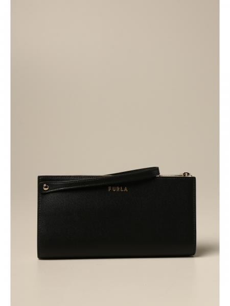 Furla wristlet in bicolor leather